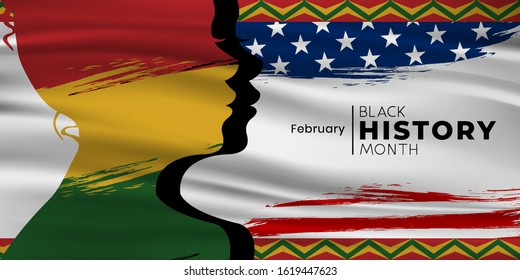 Black History Month Vector Template Design Illustration, African American History. can use for, landing page, template, ui, web, mobile app, poster, banner, flyer, background