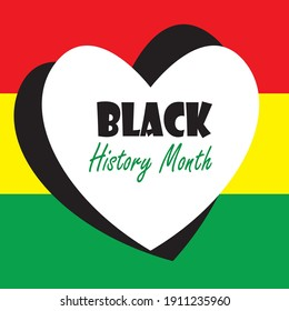 Black History Month vector template. Design for banner, greeting cards or print.