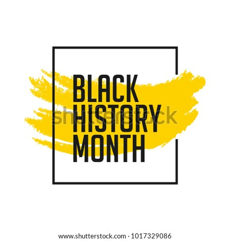 black history month vector template design のベクター画像素材