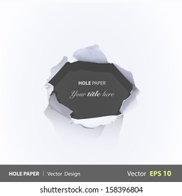 Black hole over white background. Vector design.