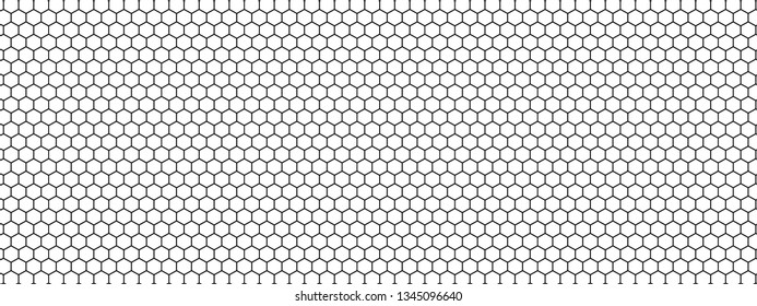 Black honeycomb on a white background. Isometric geometry. 3D illustration