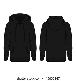 Black hoodie isolated vector