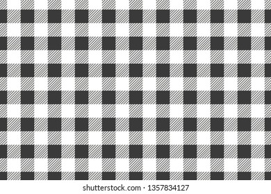 Black horizontal Gingham pattern. Texture from rhombus/squares for - plaid, tablecloths, clothes, shirts, dresses, paper, bedding, blankets, quilts and other textile products.