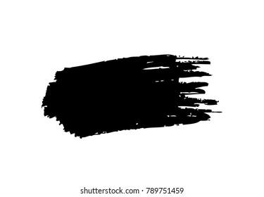 Black horizontal vector brush stroke