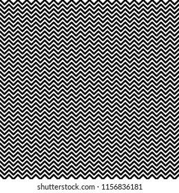 Black horizontal zigzag on a white background