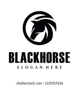 Black Horse, King Horse Logo Design Inspiration Vector