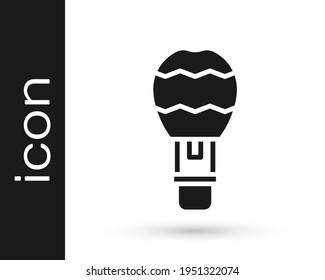Black Hot air balloon icon isolated on white background. Air transport for travel. Vector