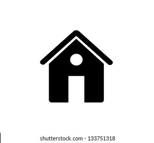 Black house, home icon isolated vector
