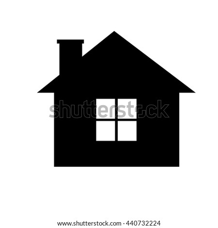 be95388fd7bb black house icon with white windows over isolated background,vector  illustration