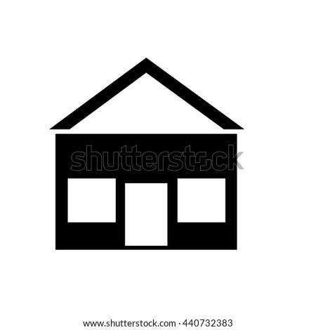 ed23e39d9cd8 black house icon with white windows and roof over isolated background,vector  illustration