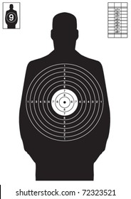Black human target vector