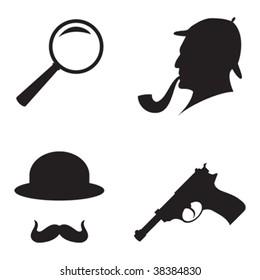 Black Icon Detective Crime Set