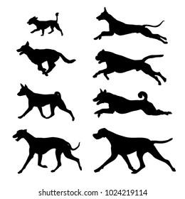 black icon dogs