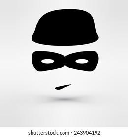 Black Icon thief. Vector