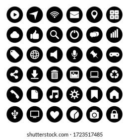 Black icon web vector collection