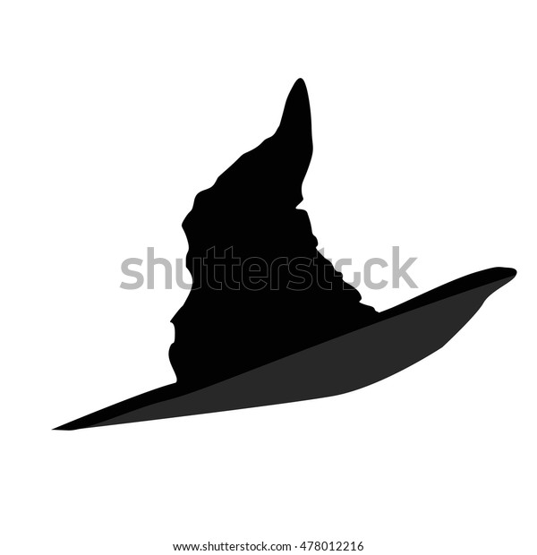 Black Icon Witch Hat Halloween On Stock Vector Royalty Free 478012216