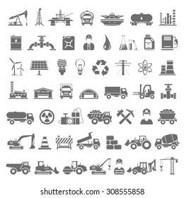 Black Icons - Industry, Energy, Construction