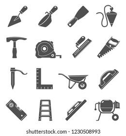 Black Icons - Masonry Tools