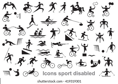 Image result for disability sports clipart
