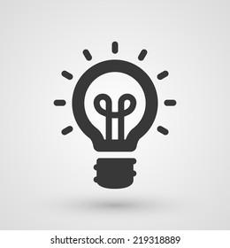 Black idea icon. Innovation and creativity concept