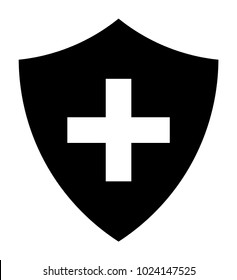 Black Immune System (Cross In A Shield) Icon