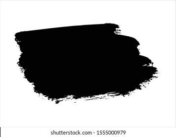 black ink brush stroke paint background vector