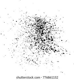 Black ink paint explosion splatter artistic cover design sketch. Drawing dot splash texture white background grunge. Trendy template vector Cover Catalog Brochure Flyer Poster Label