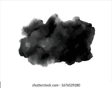 black ink paint stroke background