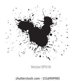 black ink splash isolated on white background. Vector EPS10