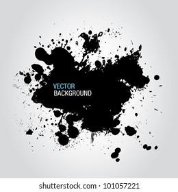 Black Ink Splatter Background