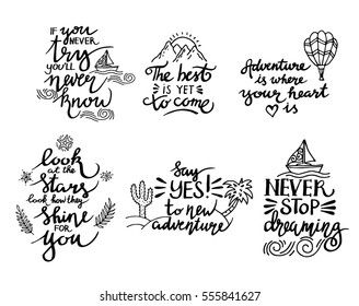 Image of: Wallpapers Black Inspirational Quote Isolated On White Background Brush Typography For Poster Tshirt Shutterstock Positive Attitude Quotes Images Stock Photos Vectors Shutterstock