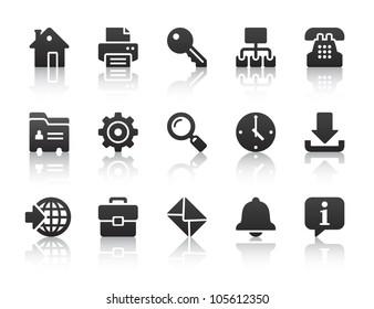 black internet icons