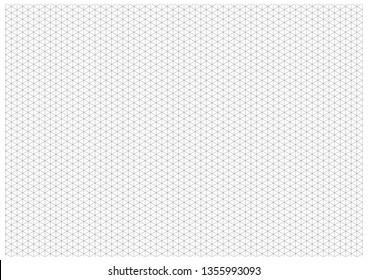 Black Isometric Grid - A4 Landscape 297x210mm