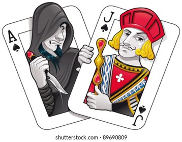 Black Jack. Funny cartoon and vector illustration