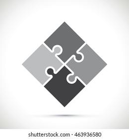 black jigsaw pieces