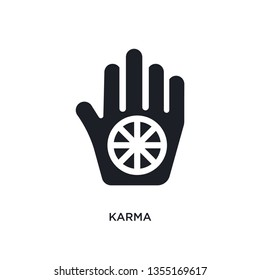 black karma isolated vector icon. simple element illustration from religion concept vector icons. karma editable logo symbol design on white background. can be use for web and mobile