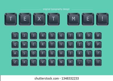 black keyboard typography font design