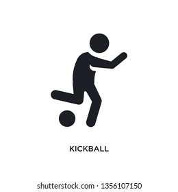 black kickball isolated vector icon. simple element illustration from sport concept vector icons. kickball editable logo symbol design on white background. can be use for web and mobile