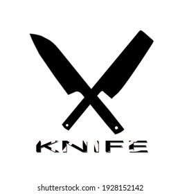 black knife logo for your work