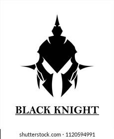Black Knight on white background