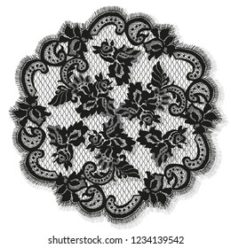 Black Lace Doily Vector Detailed Frame Template