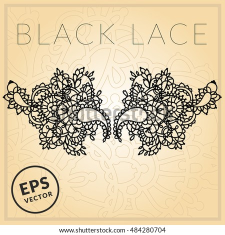 black lace mask template tattoo design stock vector royalty free
