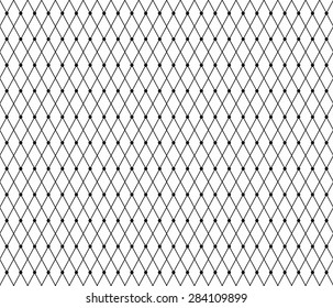 Black lace pattern with dots. Vector