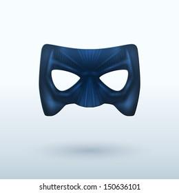 Black Leather Mask for Superhero. Vector Illustration.