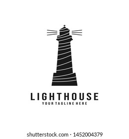 Black lighthouse logo design inspiration