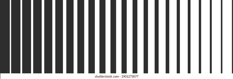 Black line gradient halftone background. Monochrome texture. Abstract geometric design. Retro seamless pattern. Vector illustration.