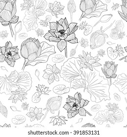 Lotus Line Drawing Images Stock Photos Vectors Shutterstock