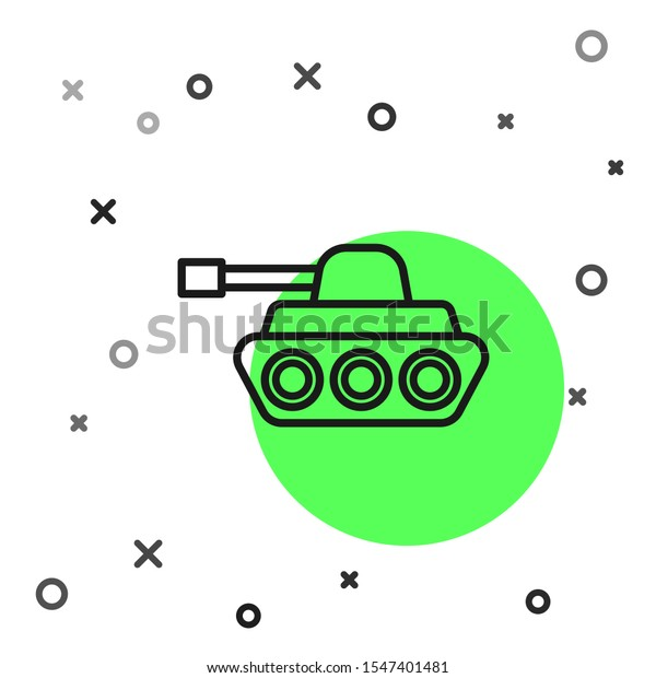 black line military tank icon isolated stock vector royalty free 1547401481 shutterstock