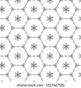 black line in seamless pattern