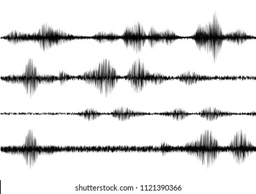 black line soundwave effect with vector design